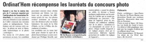 Article et photo La Voix du Nord du 10.10.2013