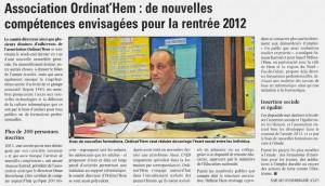 La Voix du Nord du 16.06.2012