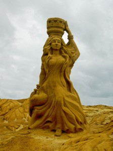 Sculpture de sable au Touquet