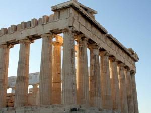 Parthenon-d'Athene-au-coucher-de-soleil
