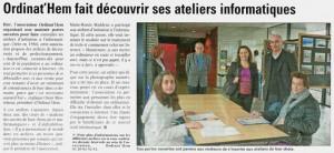 Read more about the article La Voix du Nord du 09.10.2011