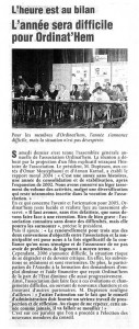 Read more about the article Nord Eclair 23.03.2005