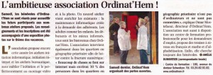 Read more about the article Nord Eclair du 13.10.2011