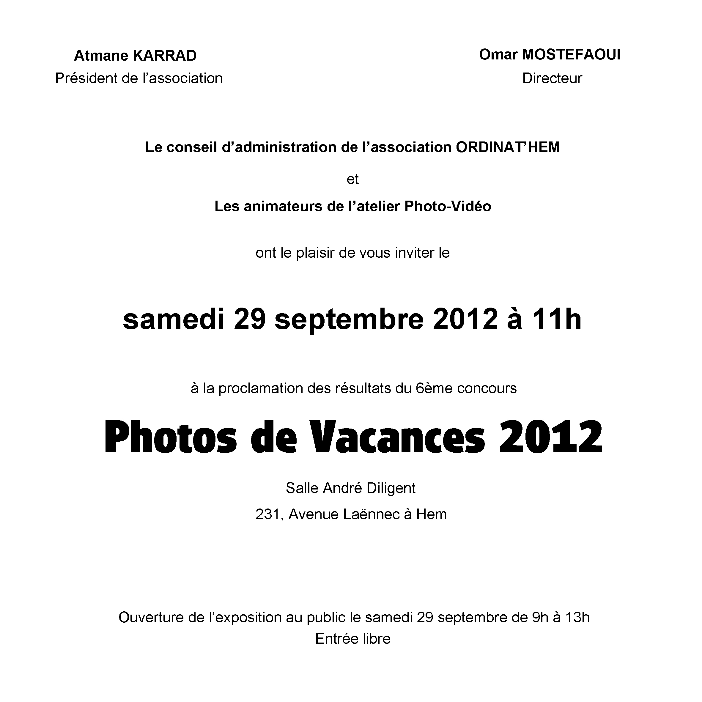 You are currently viewing Photos de vacances 2012