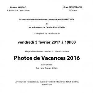 Read more about the article Proclamation des résultats du Concours photo 2016