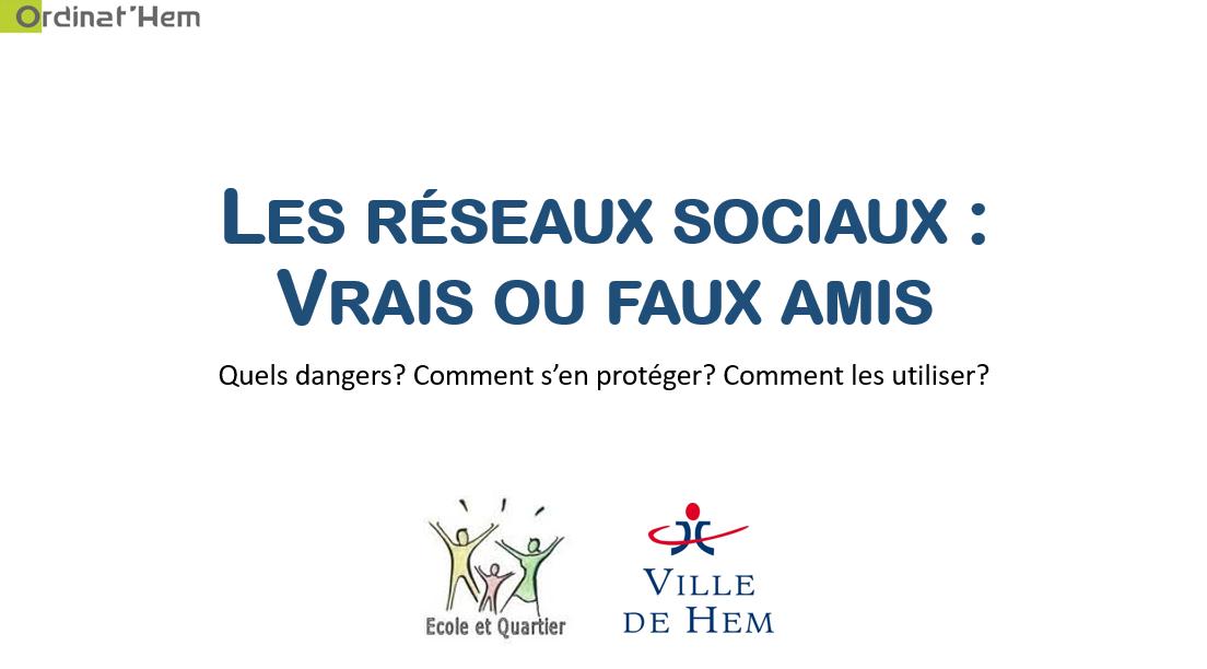 You are currently viewing Conférence : Réseaux sociaux, vrais ou faux amis?